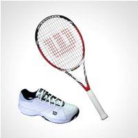 Racket,Wilson,Wilson Steam 99 Tennis Racket + Wilson M Tour Ceptor Tenn...available online from Sports365.in #onlineshopping #tennis #rackets #racquets