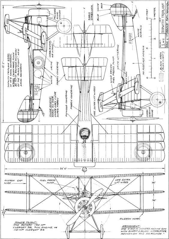 1048 best Aircraft 3-view Scale Drawings images on