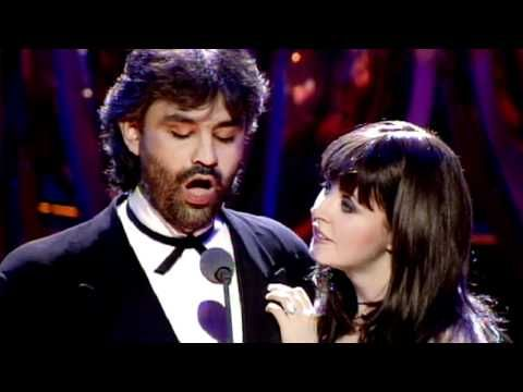 Sarah Brightman and Andrea Bocelli - Time to say goodbye.  In case someone doesn't find this as an earlier upload- it's brilliant.