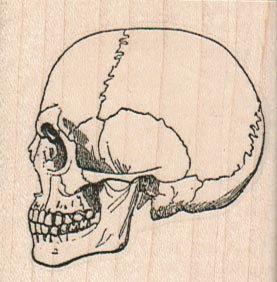 木材は14687を取り付けられたデッドゴム印のrubberstampハロウィーンの日を刻印頭蓋骨ゴムスタンプ
