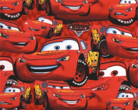Springs Creative - Disney's Lightning McQueen desgin in red, 100% cotton from the Springs Creative Disney cotton collection 11
