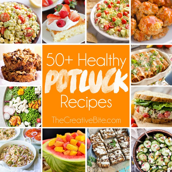 Over 50 Light & Healthy Potluck Recipes, with everything
