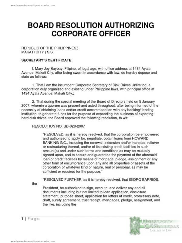 Sample Corporate Resolution Check More At Https Nationalgriefawarenessday Com 29145 Sample Corp Corporate Certificate Of Completion Template Mortgage Banking