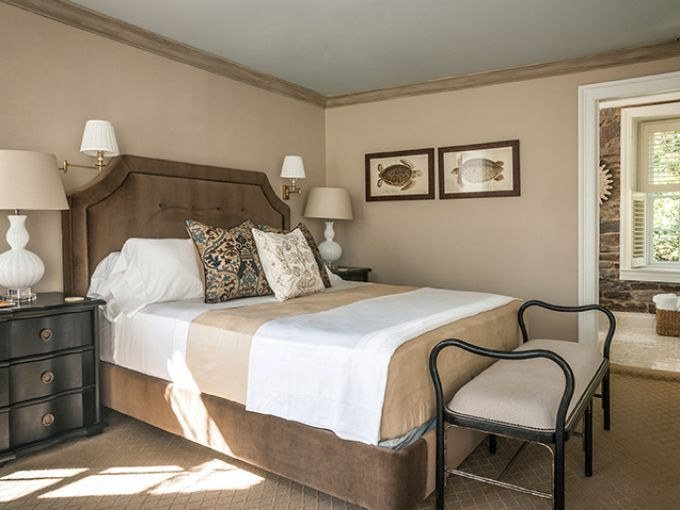 The Delaware suite at the Golden Pheasant Inn.  ~Courtesy of the Golden Pheasant Inn