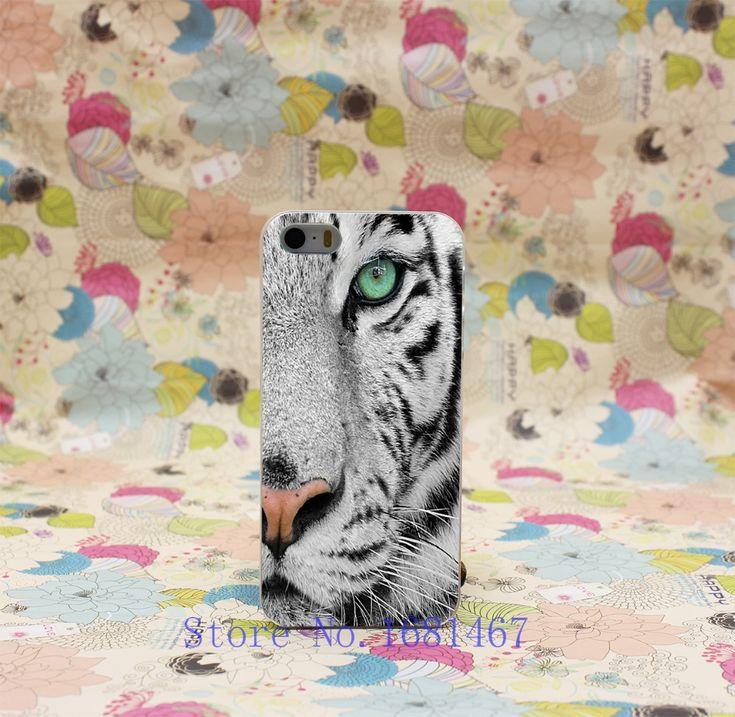 Жесткий Ясно Задняя Крышка Прозрачный Корпус для iphone 5 5s 5g стиль 392U-король од дерева черно-белый узор тигр