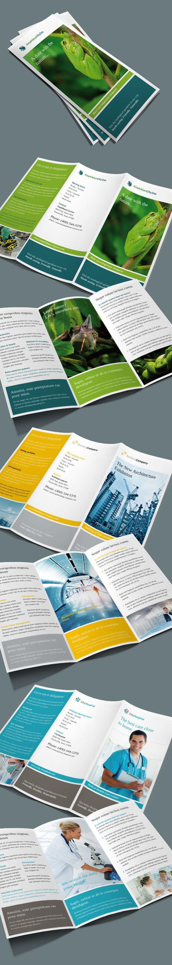 Set of 3 Trifold Brochures on Behance