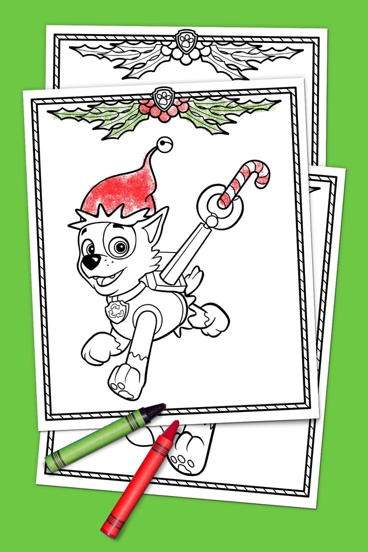 Paw patrol coloring pages aspca - Paw Patrol Holiday Coloring Pack