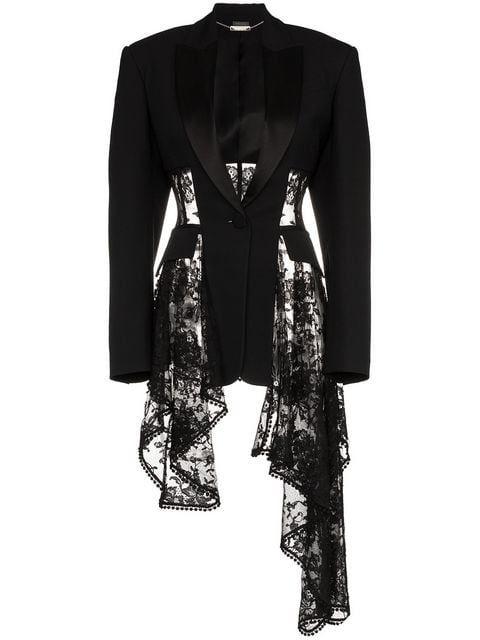 342f9200c7 Alexander McQueen lace drape corset jacket