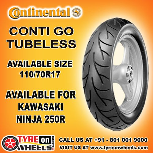 Buy 110/70R 17 Continental Bike Tyres Online of Conti Go Tubeless Tyres for Kawasaki Ninja 250R at Guaranteed Low Prices Visit to buy now at http://www.tyreonwheels.com/biketyre/Continental/CONTI-GO/9124