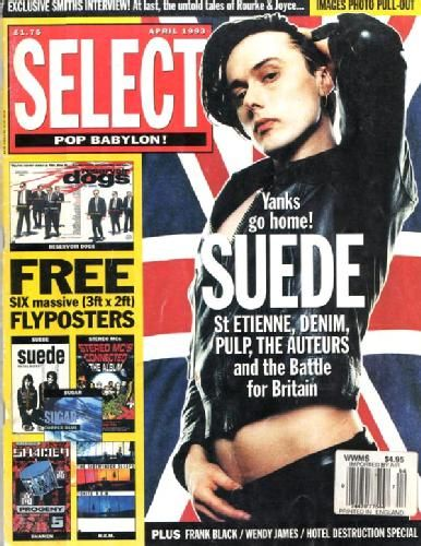 (Apparently Brett was raging when this photo came out) - Select magazine gives the world it's first taste of Britpop, 1993