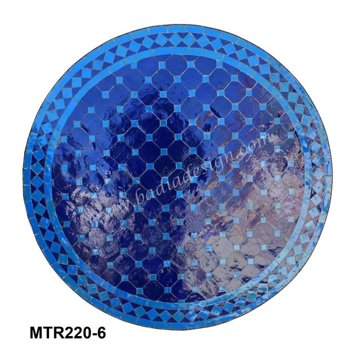 Badia Design Inc Store - Round Mosaic Tile Table - MTR220, $382.50 (http://www.badiadesign.com/round-mosaic-tile-table-mtr220/)
