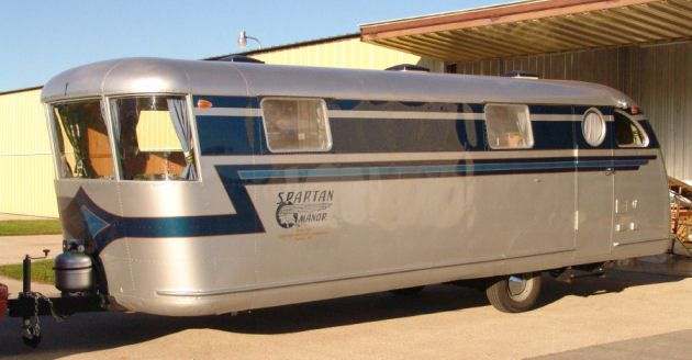 1946 Spartan Trailer Restoration..Re-pin Brought to you by agents of #CarInsurance at #HouseofInsurance in Eugene, Oregon