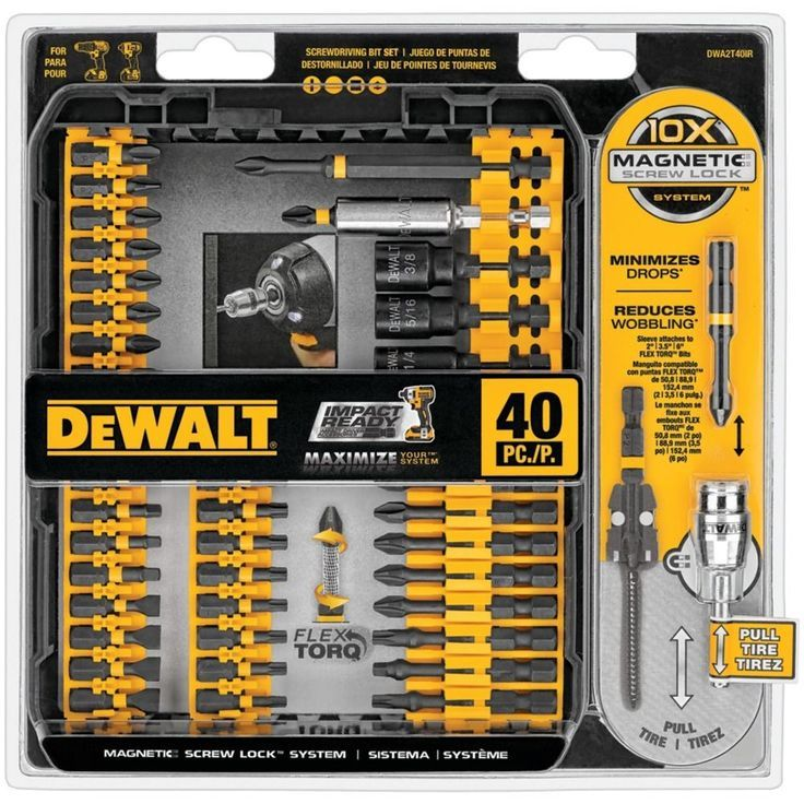 Modern ** Dewalt Screwdriver Set forty Piece IMPACT Prepared Residence Software Package Man Cave Present For Him