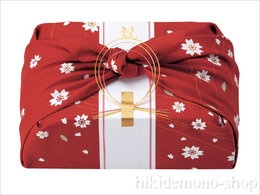 Japanese style wrapping with Furoshiki (wrapping cloth)
