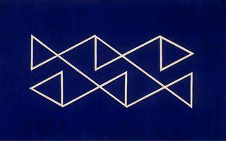 Alfredo Volpi,  obra 3 Têmpera sobre tela 72,8 x 116,0 cm