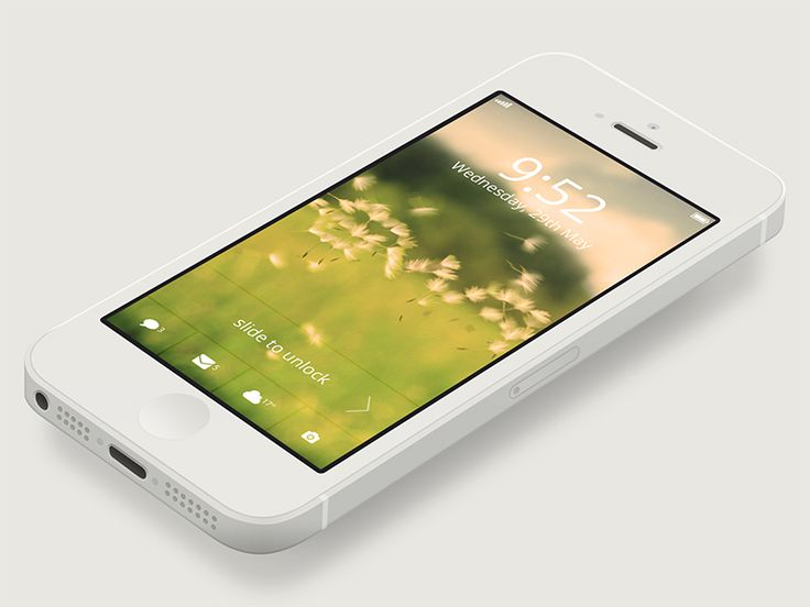 iPhone Lock Screen Design by Asher Charles