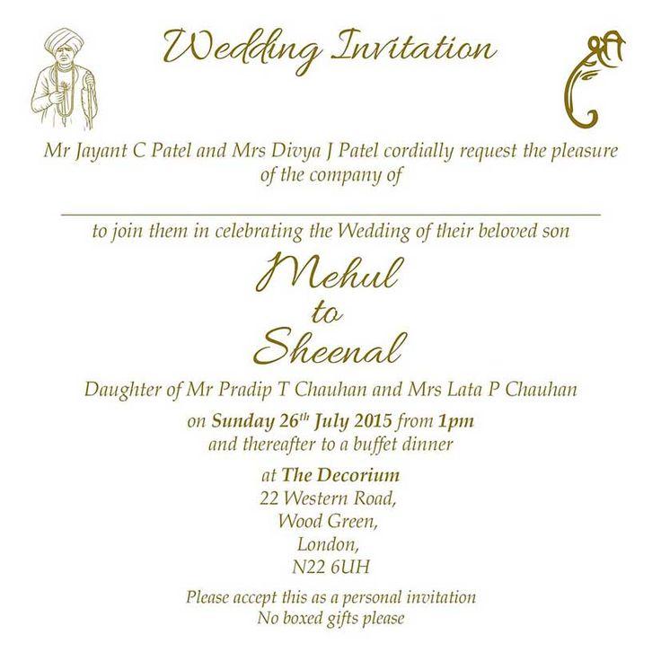 The 25+ best Hindu wedding invitation wording ideas on Pinterest ...