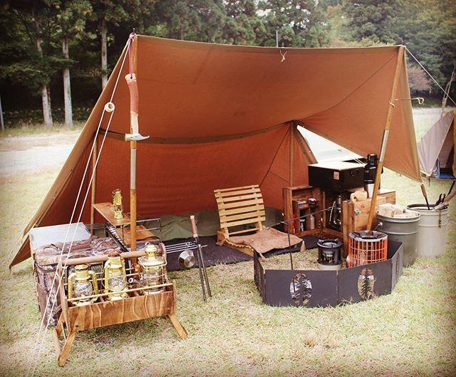#camping #キャンプ #野営 #パップテント #シェルターハーフテント #仏軍テント