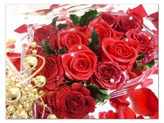 【プリザーブドフラワー/グランドピアノシリーズ】熱い情熱は心に秘めて。美しく咲き誇る赤い薔薇のエレガンス【リボンラッピング付き送料無料】