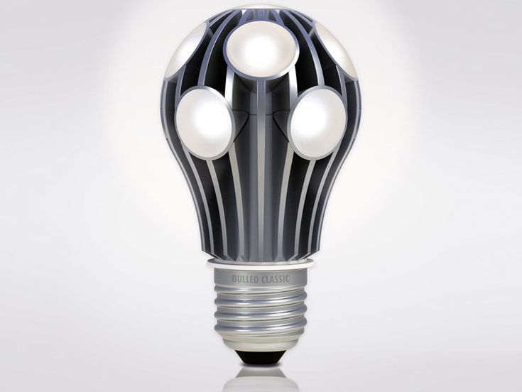 LED Bulbs Located Inside Cooling Fins   80 000 Hours, Made Of Aluminum And  Other Durable Electronic Components