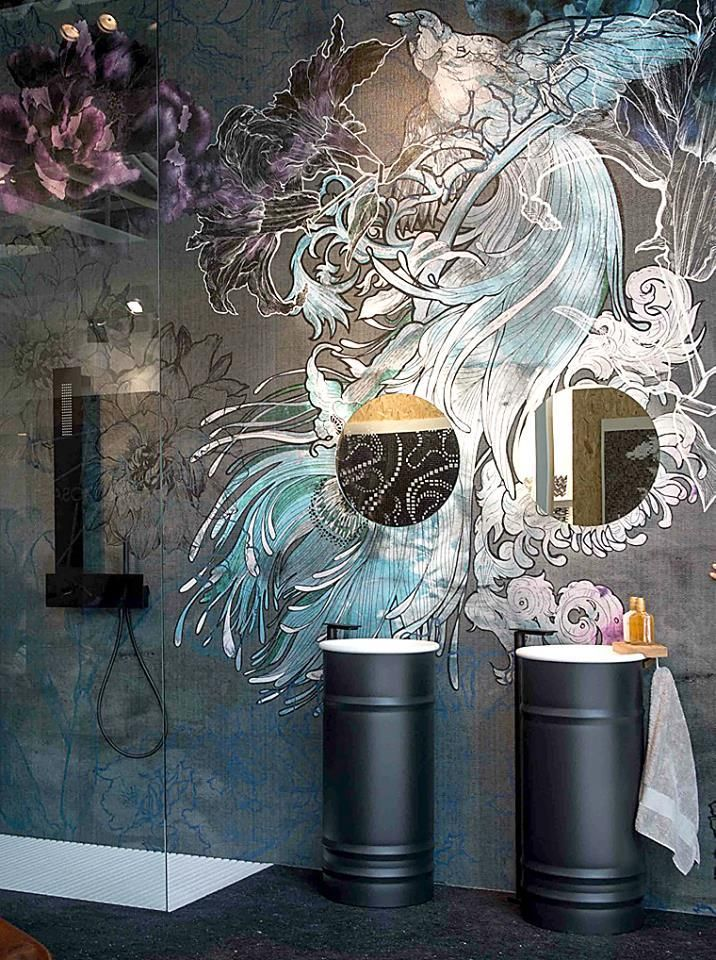 Wall And Deco Wet Tapete Mystical Dream Bathroom Wallbeautiful Bathroomswall Muralswallsdecorating Ideasi