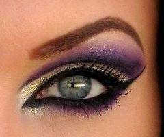 : Purple Eyeshadows, Eye Makeup, Cat Eye, Eye Color, Eye Shadows, Dramatic Eye, Makeup Ideas, Eyemakeup, Green Eye