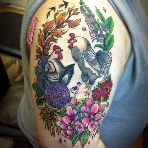 64 best images about Poultry Tattoos! on Pinterest | David ... |Cute Chicken Tattoos