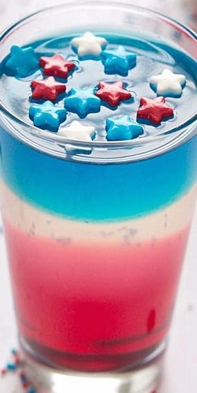 Red, White and Blue Jello Cups