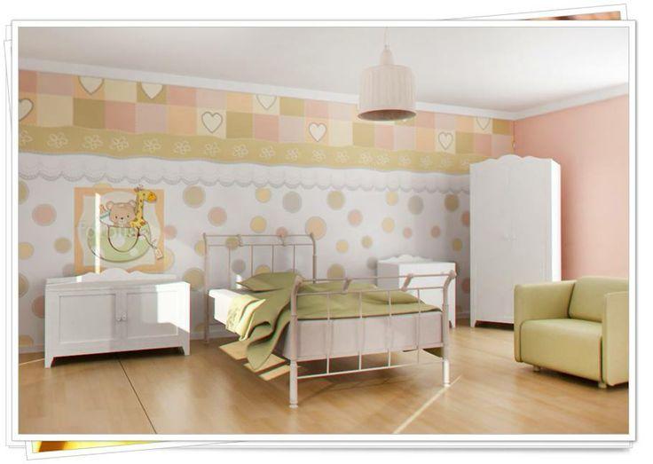 pastele w pokoju Twojego Malucha - z naszymi tapetami graficznymi to proste;)