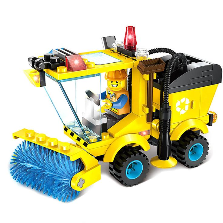 102 Pcs City Road Sweeper Building Blocks Kids Children Toys Set Christmas Gift $5.85