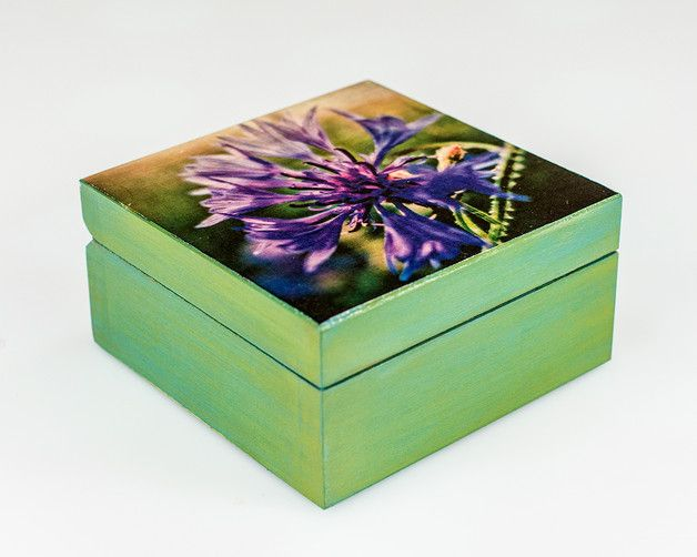 Pudełko chabrowe - MagicPoland - Pudełka na biżuterię