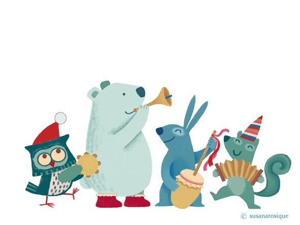Felices Fiestas - Merry Christmas - illustration and gif by Susana Rosique