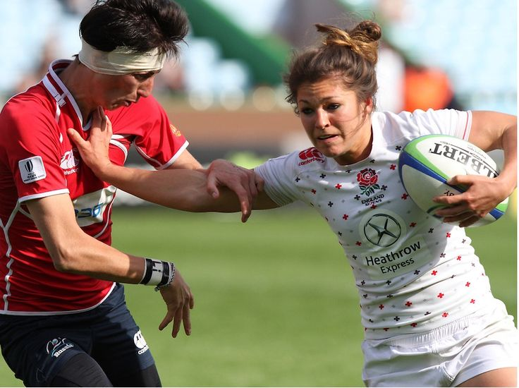 Amy Wilson-Hardy in action for England