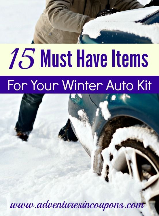 How to build a winter emergency kit for your car - Colder weather means its time to check your emergency kits! Don't forget your car kit! Be certain that yours has these 15 Must Have Items for Your Winter Car Kit included!