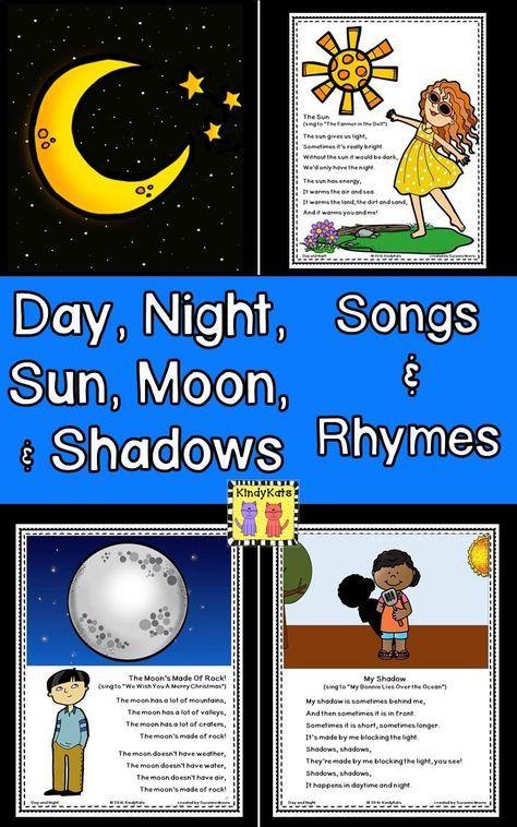 Day, Night, Sun, Moon, Shadows Songs and Rhymes   Moon ...