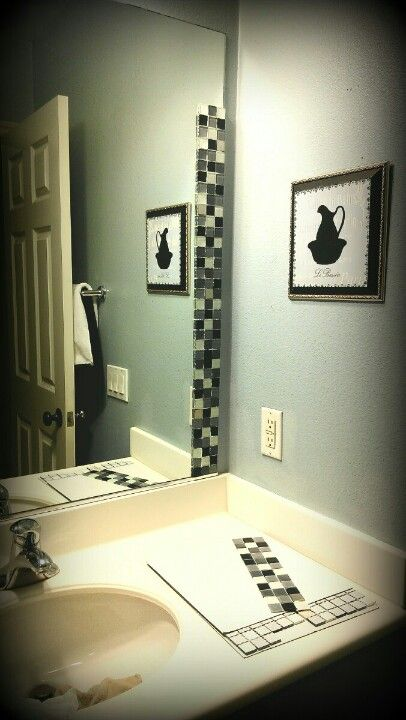 Best 25 Tile Mirror Frames Ideas On Pinterest Tile Mirror Bathroom Mirror Inspiration And