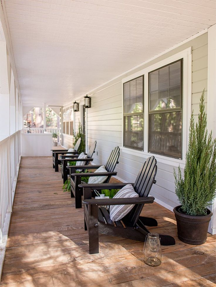 Front Porch Decorating Ideas With The Perfect Adirondack Chairs Our House Now A Home: 357 Best Outside Your Home Images On Pinterest