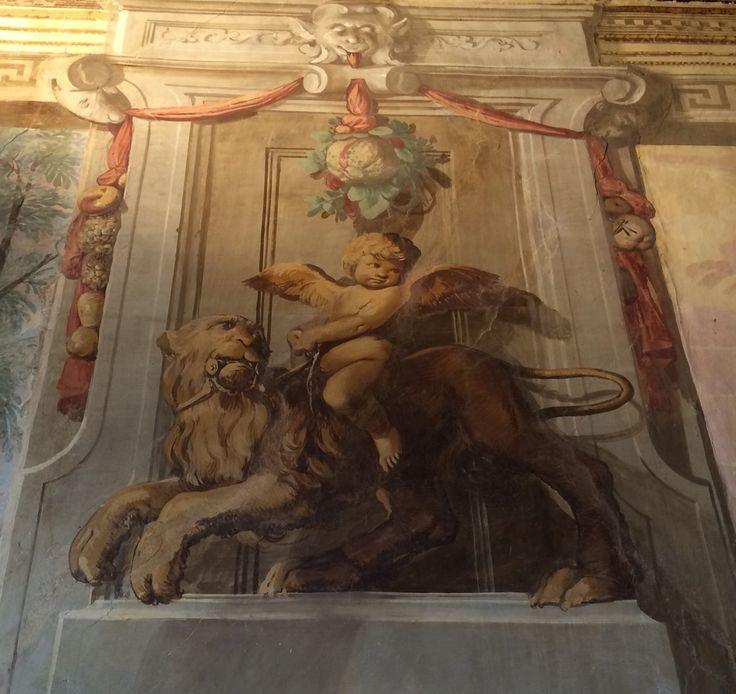 Particolare dell'affresco di Villa Caldogno (Vicenza). Buona serata