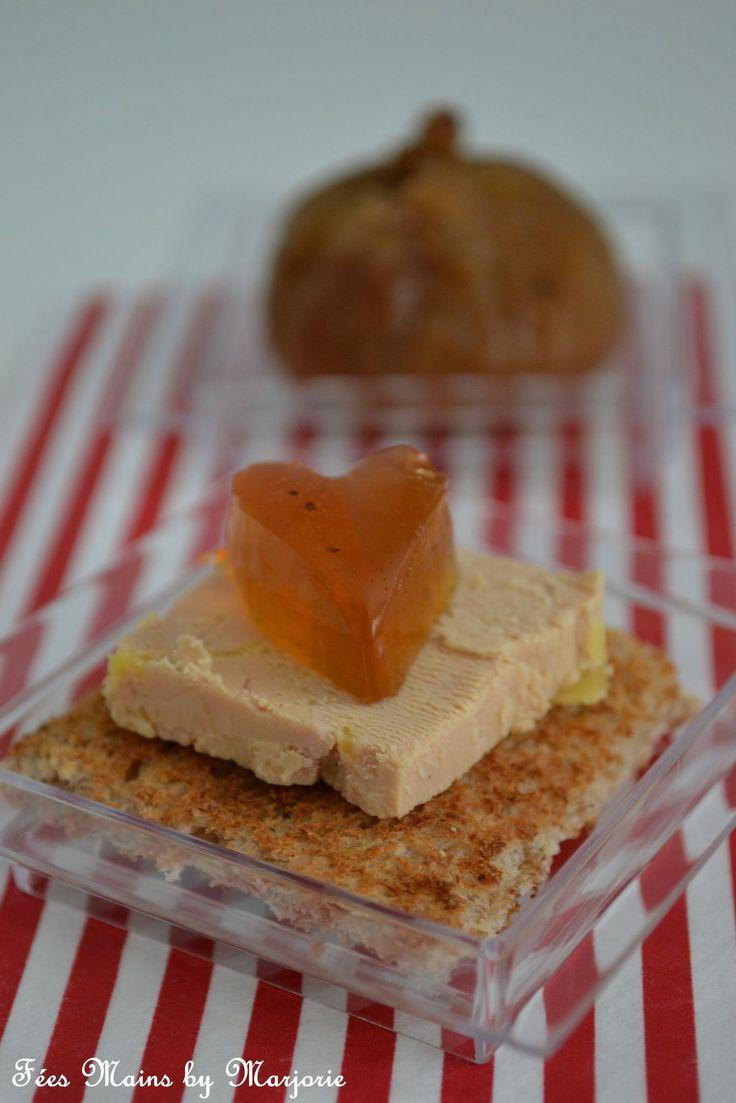 Toast de foie gras et son coeur de gelée de Monbazillac