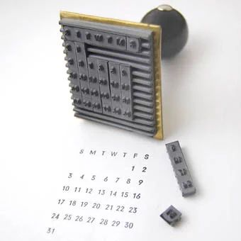 カレンダーのハンコ: 水縞日記