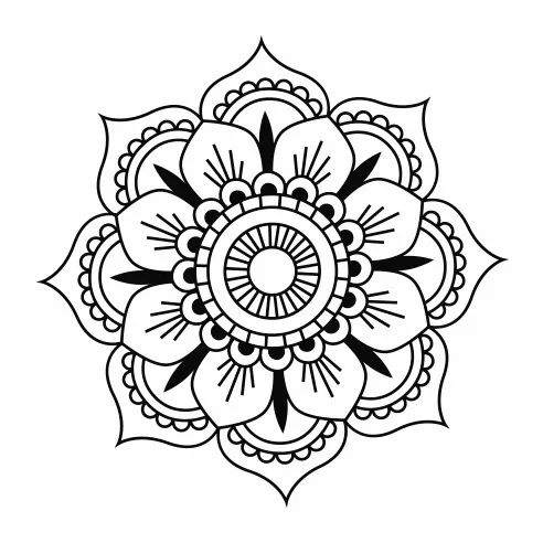 Mandala 19x19 Cm Vinilo Decorativo Tatus Pinterest