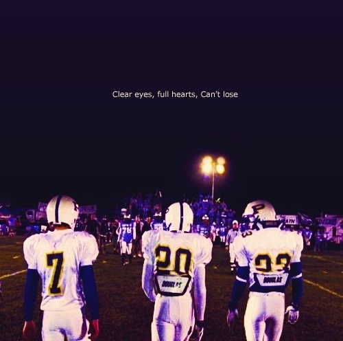Friday night lights Saracen, Smash, Riggins. YES YES YES. There is so much right about this picture.