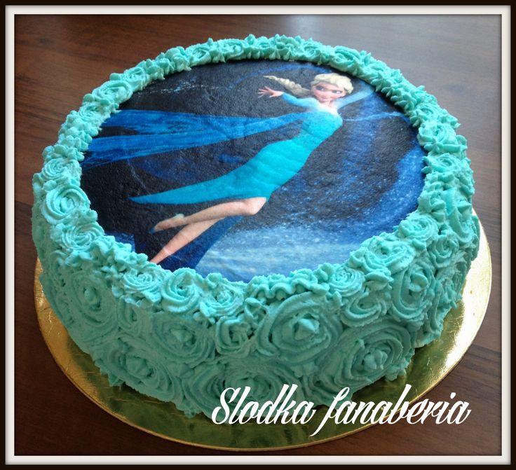 Tort Kraina Lodu Frozen Elsa