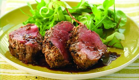Asian beef fillet with ginger, coriander and garlic