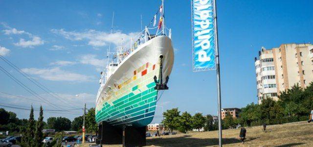 Primul vapor simbol al Constanței, transformat în exponat de artă urbană