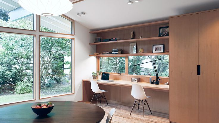 SHED Architecture & Design were hired to remodel a 1967 residence into a modern family home near Seattle, in the Kirkland's Bridle Trails neighborhood
