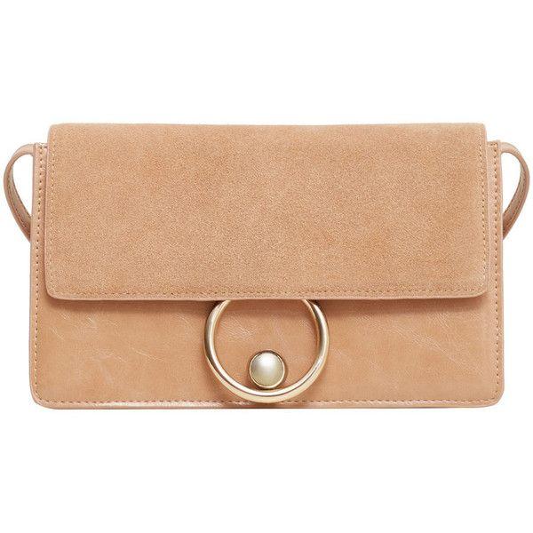 Leather Flap Bag found on Polyvore featuring bags, handbags, metallic purse, mango handbags, red shoulder bag, metallic shoulder bag and red purse