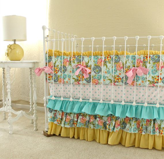 Yellow Girl Crib Bedding