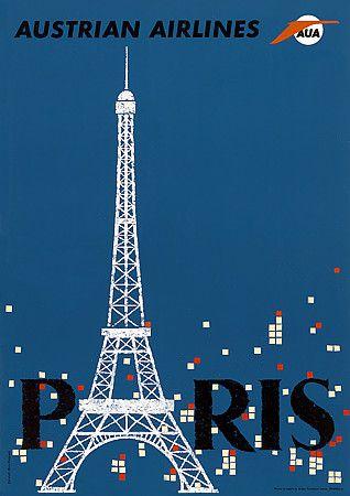 Vintage Paris France Posters Prints