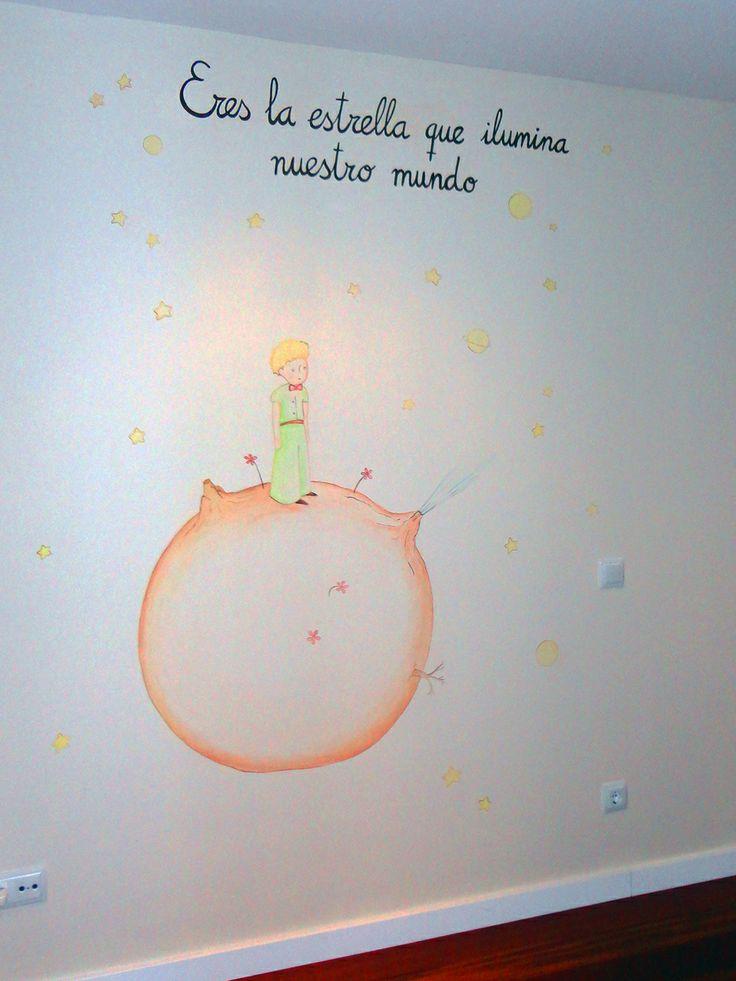 Mural principito murales infantiles pinterest - Decoracion de habitaciones infantiles nina ...
